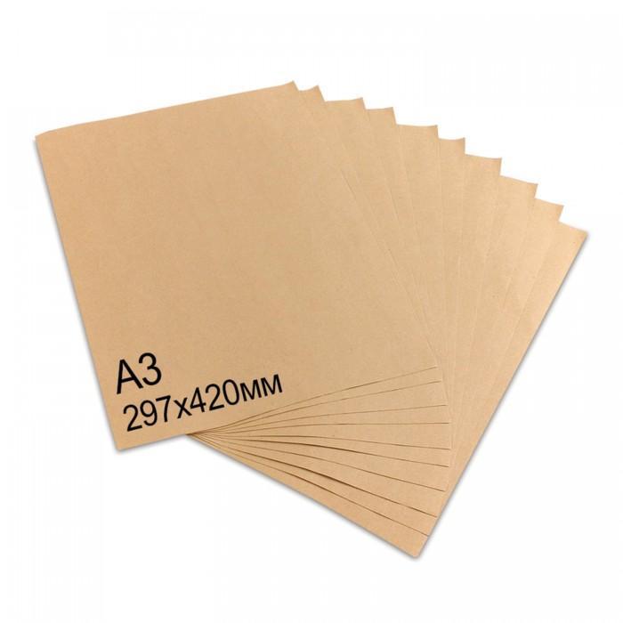 Фото - Канцелярия Brauberg Крафт-бумага А3 100 листов бумага для упаковки подарков stillera gkp 01 крафт бумага 03 дамаск
