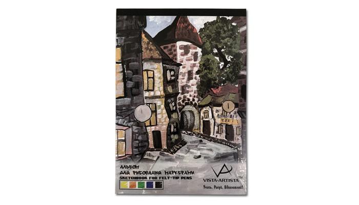 Фото - Принадлежности для рисования Vista-Artista Альбом для рисования маркерами А3 40 листов принадлежности для рисования апплика альбом для рисования на гребне филин а4 20 листов