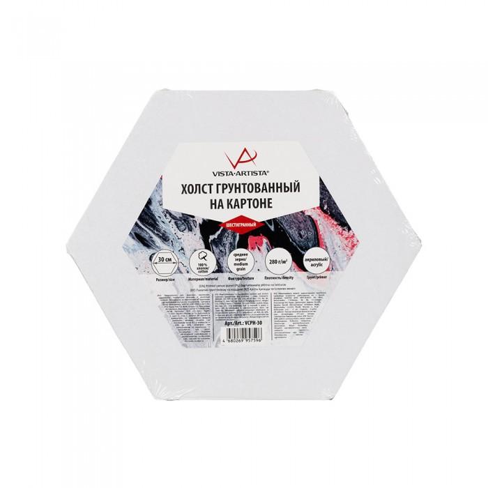 vista artista холст грунтованный cpg 4050 Принадлежности для рисования Vista-Artista Холст грунтованный на картоне шестигранный d 30 см