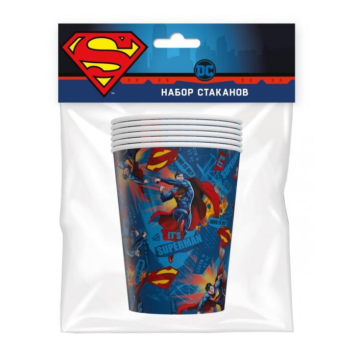 Товары для праздника Nd Play Superman Набор бумажных стаканов-1 6 шт. набор стаканов для воды 6 шт crystalite bohemia набор стаканов для воды 6 шт