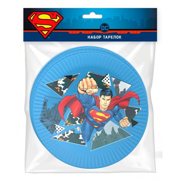 Товары для праздника Nd Play Superman Набор бумажных тарелок-1 6 шт. товары для праздника nd play l o lнабор