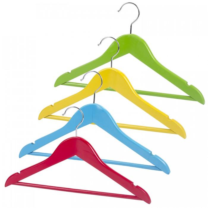 Аксессуары для комнаты Brabix Вешалки-плечики Kids размер 36-40 4 шт. гардеробные вешалки для одежды