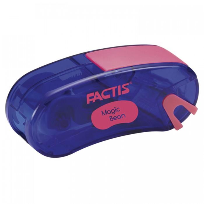 Канцелярия Factis Точилка Magic Bean с контейнером и стирательной резинкой 65x30x20 мм