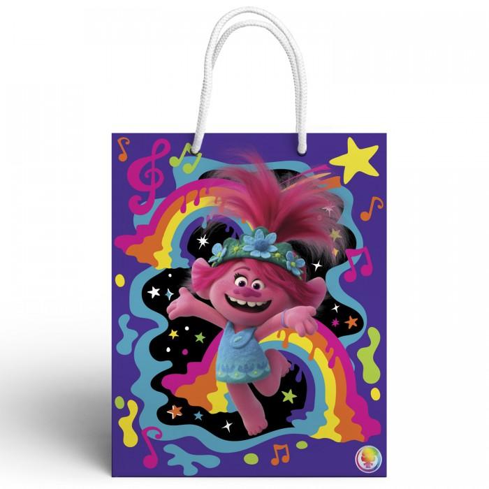 Товары для праздника Nd Play Trolls Пакет подарочный большой-1 фигурки героев мультфильмов trolls коллекционная фигурка trolls в закрытой упаковке 10 см в ассортименте