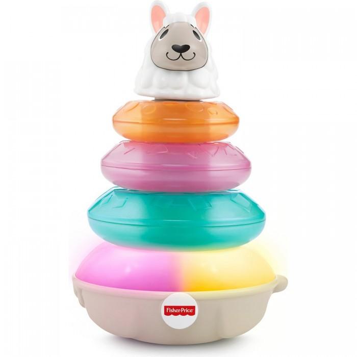 Купить Развивающие игрушки, Развивающая игрушка Fisher Price Пирамидка Светящаяся Лама