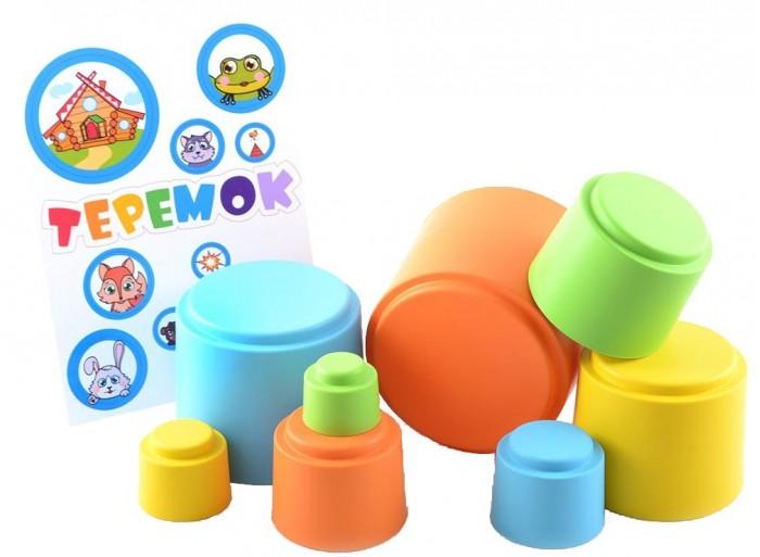 Фото - Развивающие игрушки Knopa Мягкая пирамидка стаканчики с наклейками Теремок развивающая пирамидка теремок умка