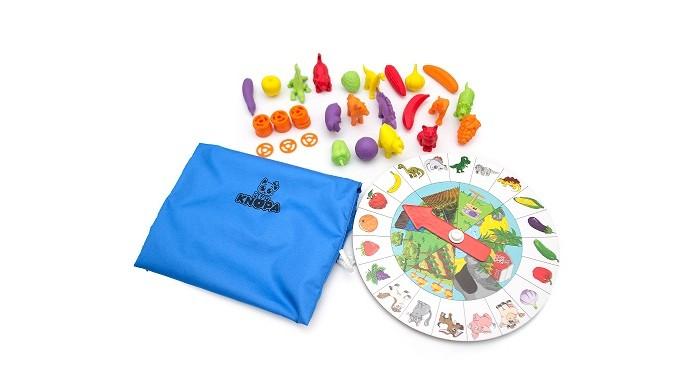 Фото - Игры для малышей Knopa Тактильное лото пластиковое лото для малышей что в корзинке найди половинку