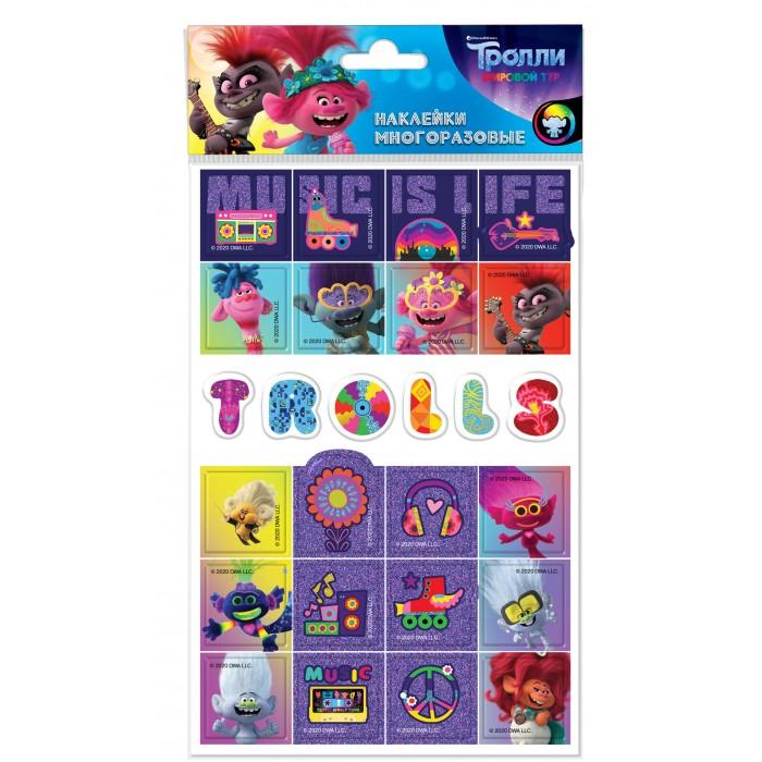Детские наклейки Nd Play Наклейки вспененные Тролли дизайн 4 тролли 200 наклеек