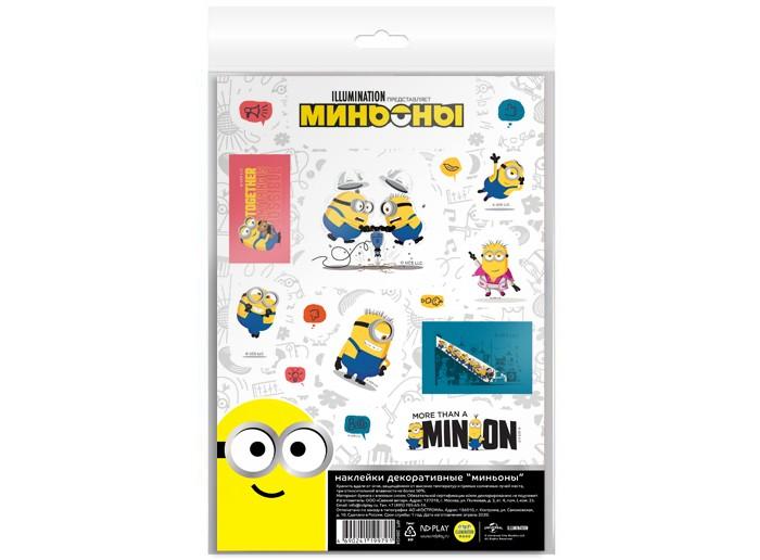 детские наклейки Детские наклейки Nd Play Наклейки декоративные бумажные А5 Миньоны набор №6