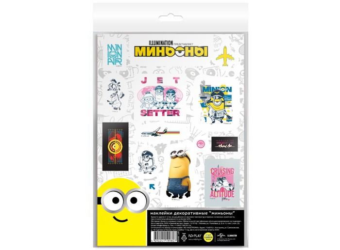 детские наклейки Детские наклейки Nd Play Наклейки декоративные бумажные А5 Миньоны набор №7
