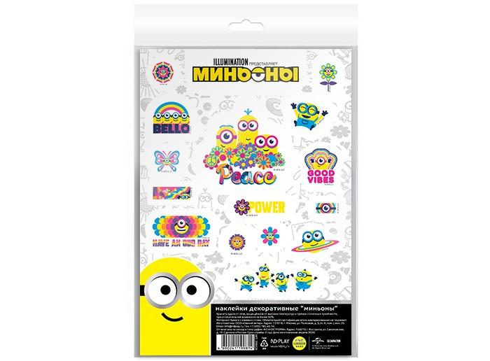 детские наклейки Детские наклейки Nd Play Наклейки декоративные бумажные А5 Миньоны набор №8