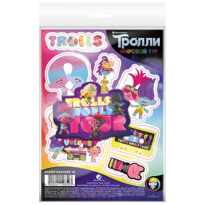 Детские наклейки ND Play Тролли Мировой тур Набор наклейки декоративные А6 и магнит №10
