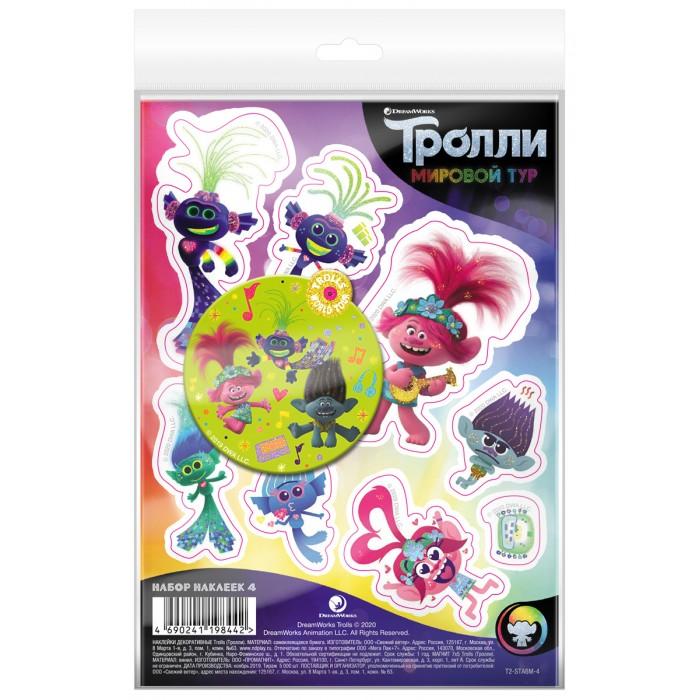 Детские наклейки ND Play Тролли Мировой тур Набор наклейки декоративные А6 и магнит №4