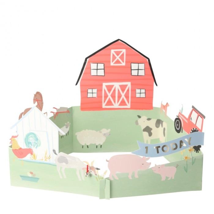 MeriMeri Открытка 3D Ферма