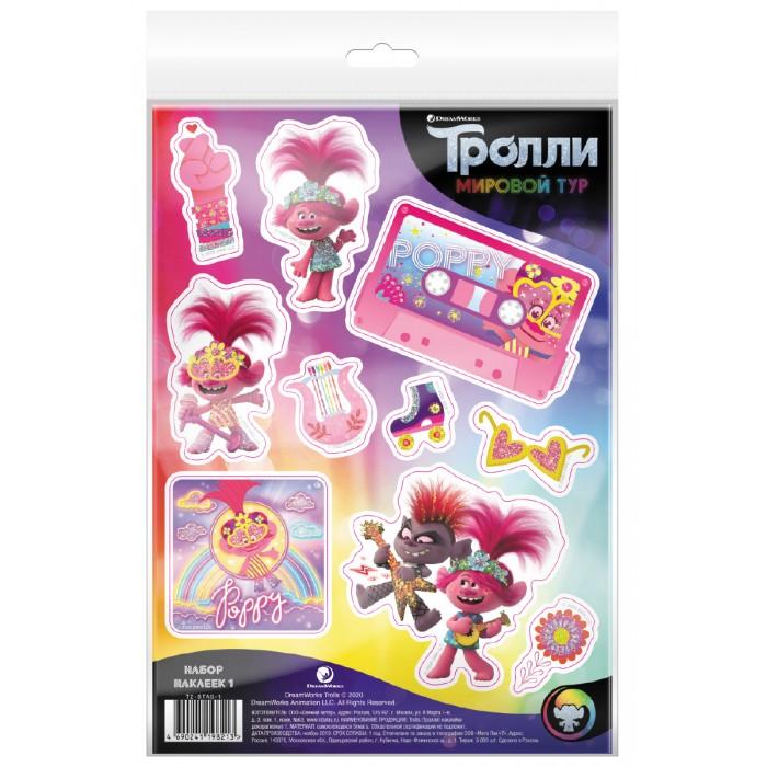 детские наклейки Детские наклейки Nd Play Тролли Мировой тур Наклейки декоративные №1
