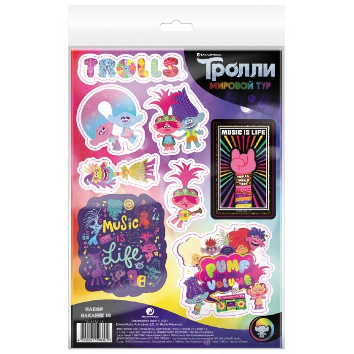 Детские наклейки ND Play Тролли Мировой тур Наклейки декоративные №10
