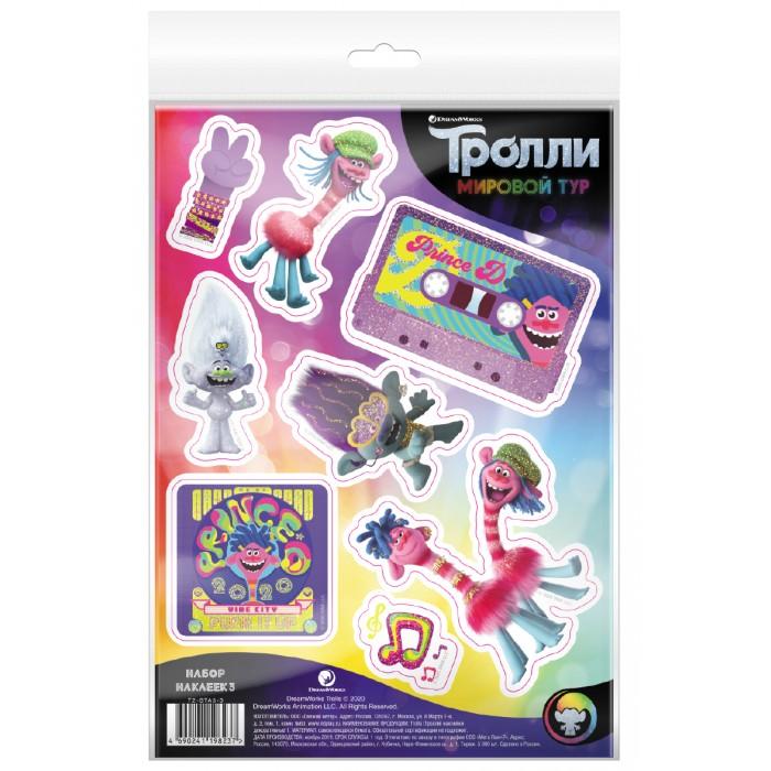 Детские наклейки ND Play Тролли Мировой тур Наклейки декоративные №3