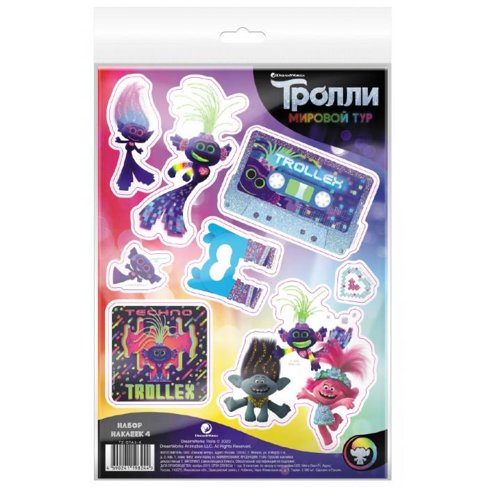 Детские наклейки ND Play Тролли Мировой тур Наклейки декоративные №4