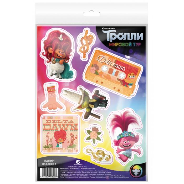 Детские наклейки ND Play Тролли Мировой тур Наклейки декоративные №6