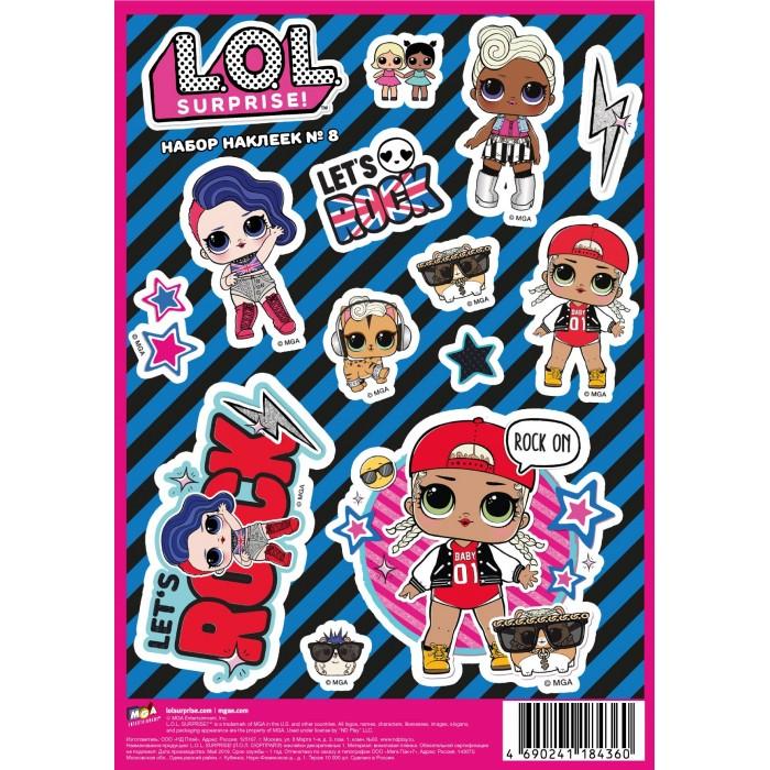 Детские наклейки ND Play L.O.L. Surprise! наклейки декоративные А5 №8 детские наклейки panini блистер lol surprise 3