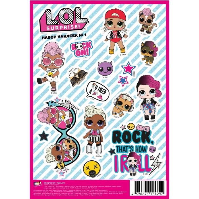 Детские наклейки ND Play L.O.L. Surprise! наклейки декоративные А5 №1 детские наклейки panini блистер lol surprise 3