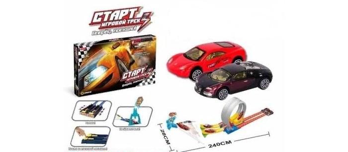 Машины Джамбо Тойз Игровой трек 2 трассы с пусковыми механизмами и гоночными петлями машинками