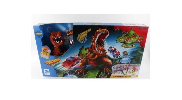 Джамбо Тойз Автотрек с динозавром и машинками от Джамбо