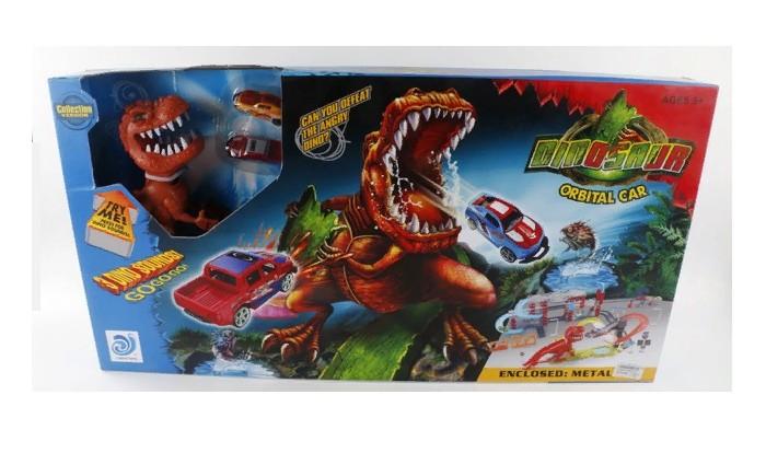 Джамбо Тойз Автотрек с динозавром и машинками JB0401922 от Джамбо