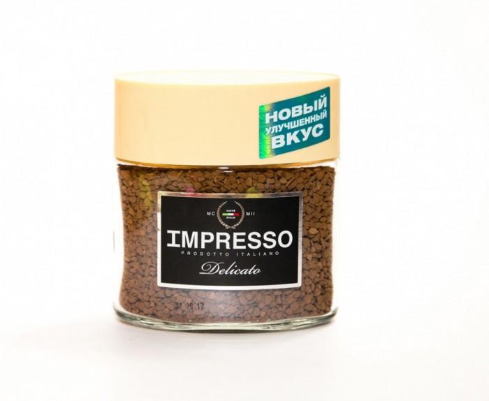 Кофе Impresso Кофе Delicato растворимый сублимированный 100 г clipper кофе растворимый арабика органик сублимированный 100 г