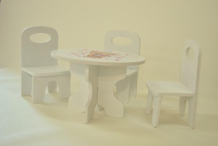Кукольные домики и мебель Коняша Набор стол и стулья Мишутки Сладкоежка кухонные стулья
