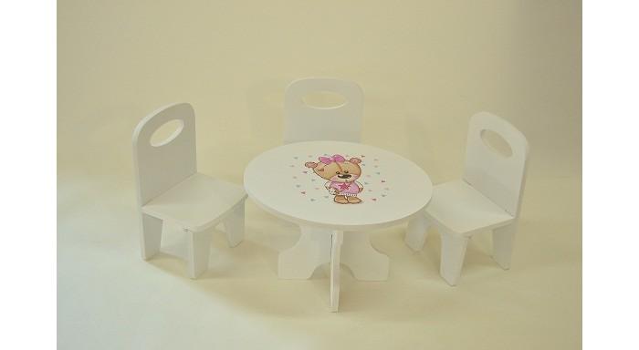 Кукольные домики и мебель Коняша Набор стол и стулья Мишутки Кокетка кухонные стулья