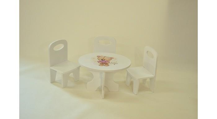 Кукольные домики и мебель Коняша Набор стол и стулья Мишутки Романтик кухонные стулья