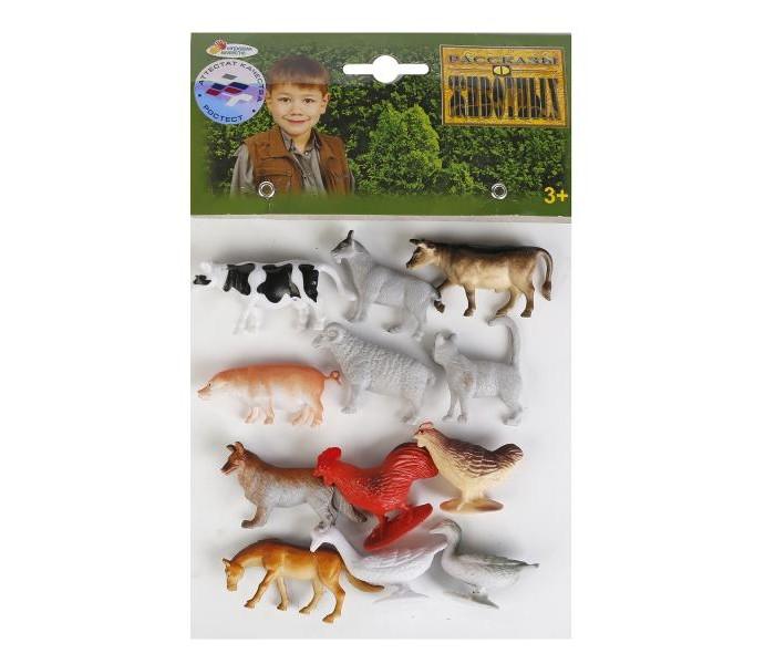 Игровые фигурки Играем вместе Набор из 12-ти домашних животных 5 см