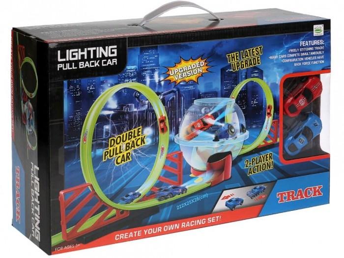 Машины Джамбо Тойз Автотрек с прозрачной сферой и машинками автотрек s s toys 68814 с машинками в коробке