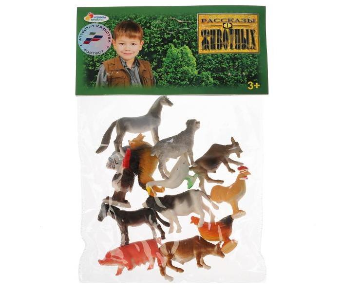 Игровые фигурки Играем вместе Набор из 12-ти домашних животных 5 см HB607-12