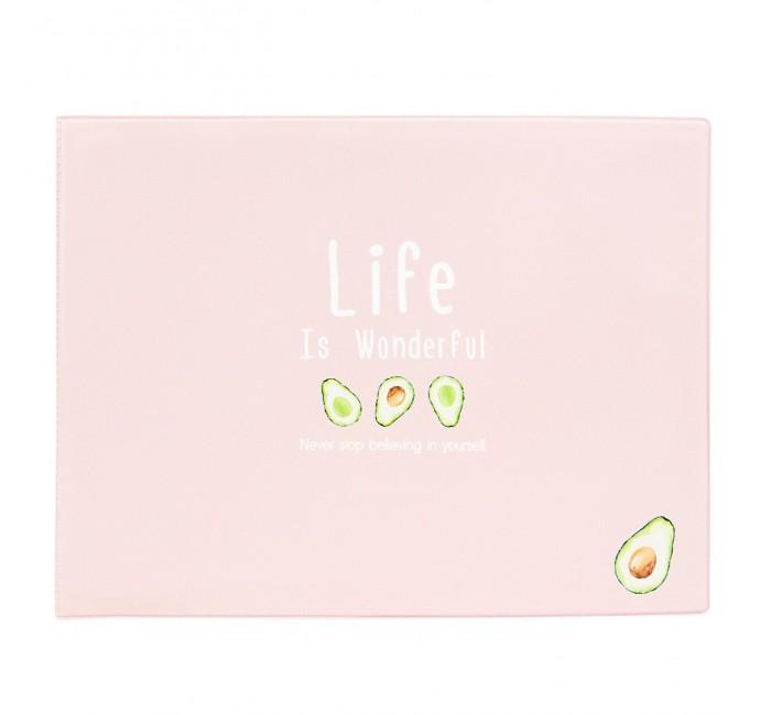 Канцелярия Kawaii Factory Обложка на зачетную книжку Life is - pink and avocado