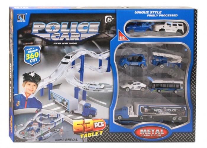 Машины Джамбо Тойз Автотрек с машинками на батарейках автотрек s s toys 68814 с машинками в коробке