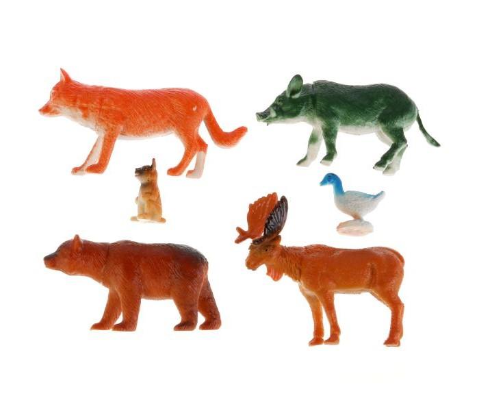 Игровые фигурки Играем вместе Набор из 6-ти лесных животных