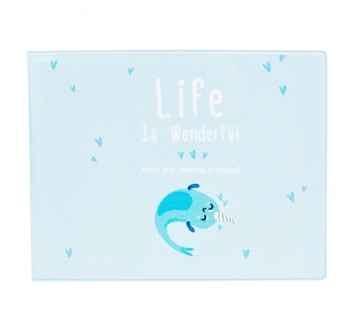 Канцелярия Kawaii Factory Обложка на студенческий Life is unicorn-fish