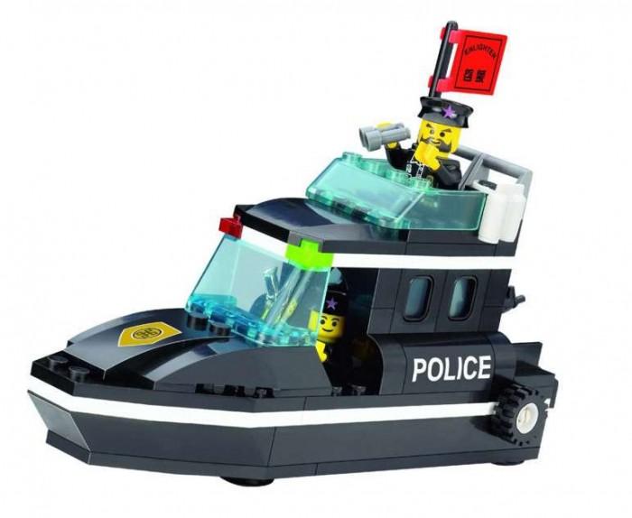 Конструкторы Enlighten Brick Полицейский катер (95 деталей)