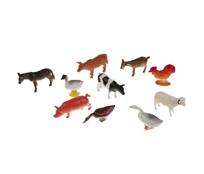Игровые фигурки Играем вместе Набор из 10-ти домашних животных 10 см