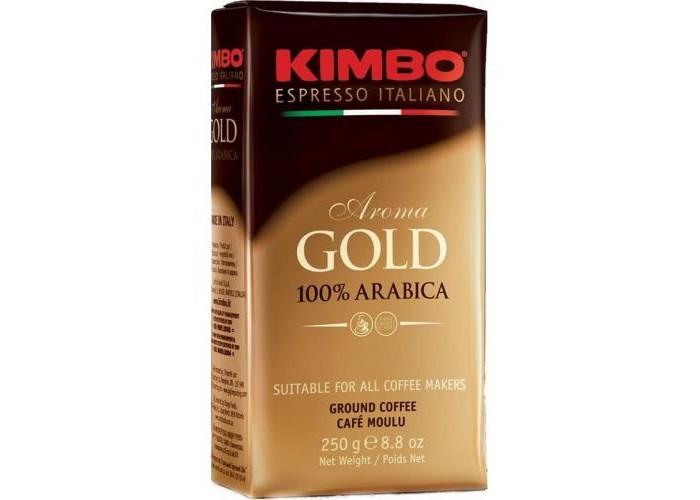 Кофе Kimbo Кофе Gold 100% Arabica натуральный жареный молотый 250 г кофе в зернах kimbo aroma gold 100% arabica 250 г