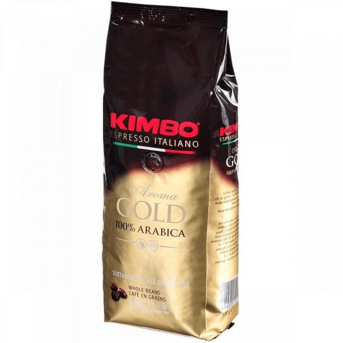 Кофе Kimbo Кофе Gold 100% Arabica натуральный жареный в зернах 500 г кофе в зернах hiramur mexico