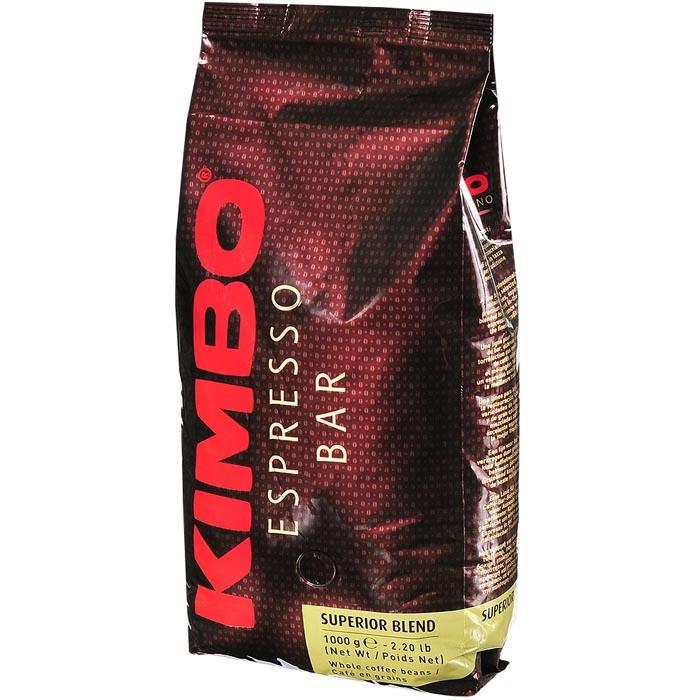 Кофе Kimbo Кофе Superrrior Blend натуральный жареный в зернах 1 кг hausbrandt кофе в зернах гурмэ 1 кг вакуумная упаковка 560 hausbrandt
