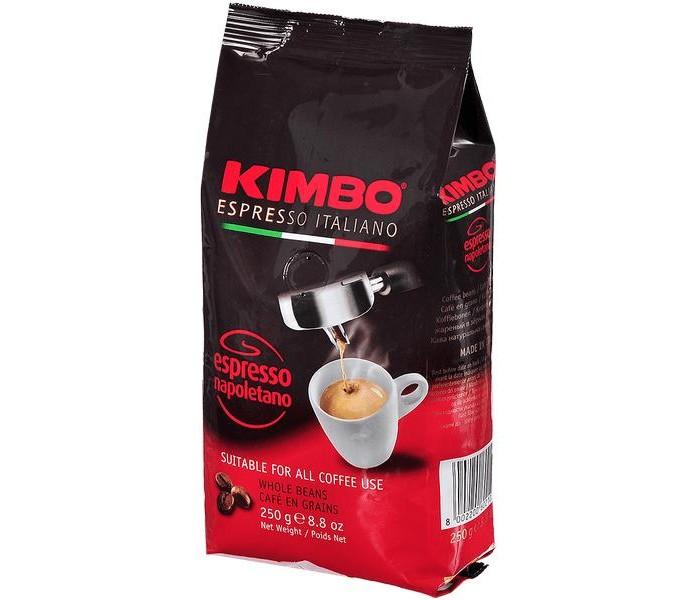 Кофе Kimbo Кофе Espresso Napoletano натуральный жареный в зернах 250 г кофе в зернах kimbo espresso bar prestige 1000