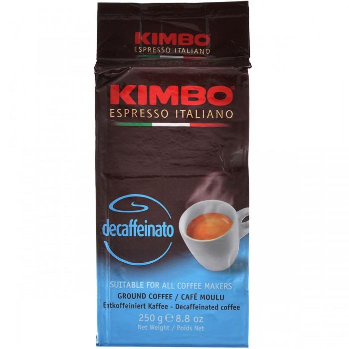 Кофе Kimbo Кофе Decaffeinato Espresso без кофеина молотый 250 г кофе молотый kimbo espresso napoletano жестяная банка 250 г
