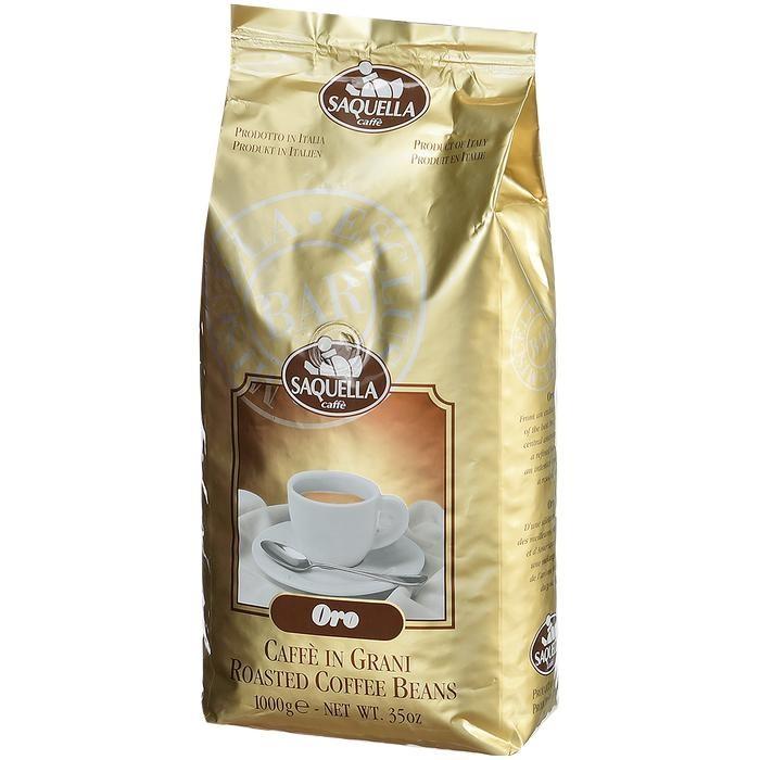 Кофе Saquella Кофе в зернах Oro 1 кг hausbrandt кофе в зернах гурмэ 1 кг вакуумная упаковка 560 hausbrandt
