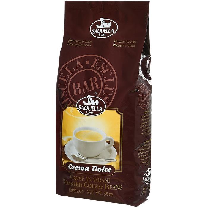 Кофе Saquella Кофе в зернах Crema Dolce 1 кг hausbrandt кофе в зернах гурмэ 1 кг вакуумная упаковка 560 hausbrandt