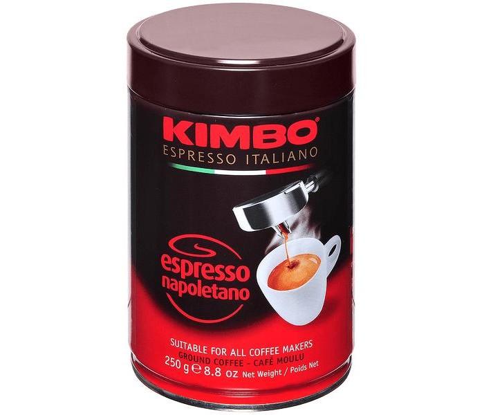 Кофе Kimbo Кофе Espresso Napoletano молотый в банке 250 г кофе молотый kimbo espresso napoletano жестяная банка 250 г
