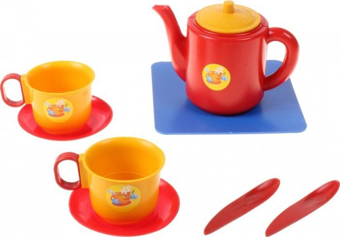 Ролевые игры Пластмастер Набор посуды чашки с чайником ролевые игры пластмастер набор посуды сахарок